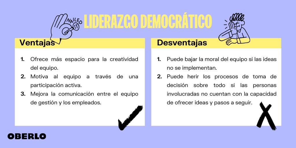 liderazgo democratico - ventajas y desventajas