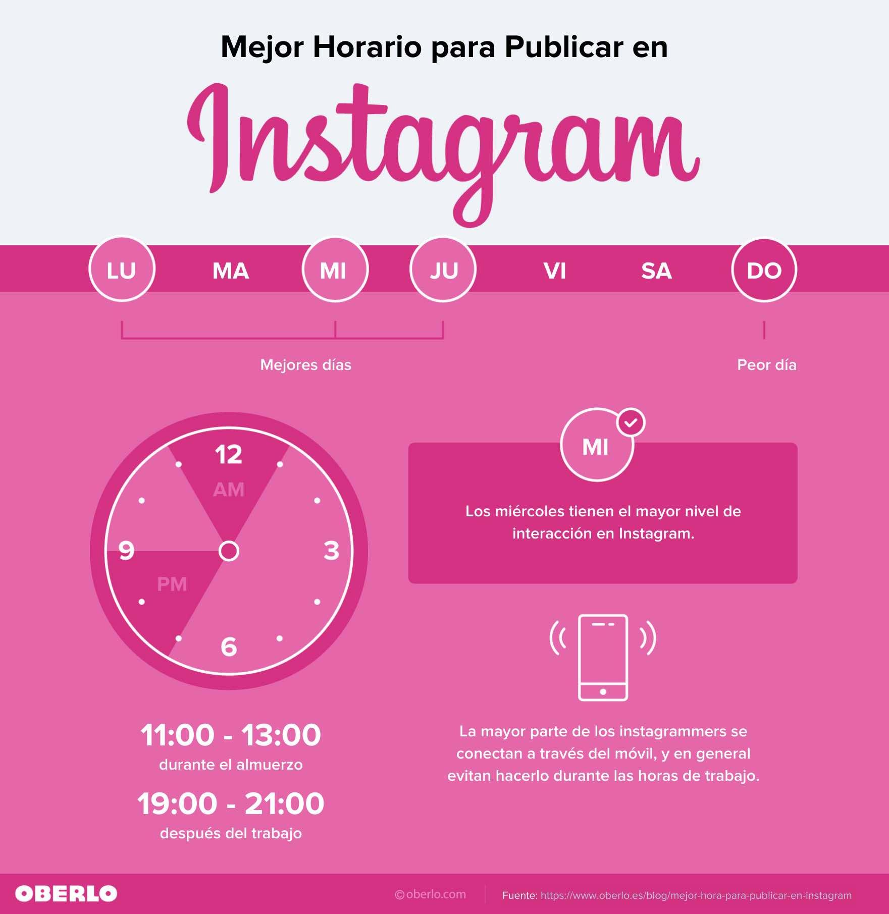 horas instagram