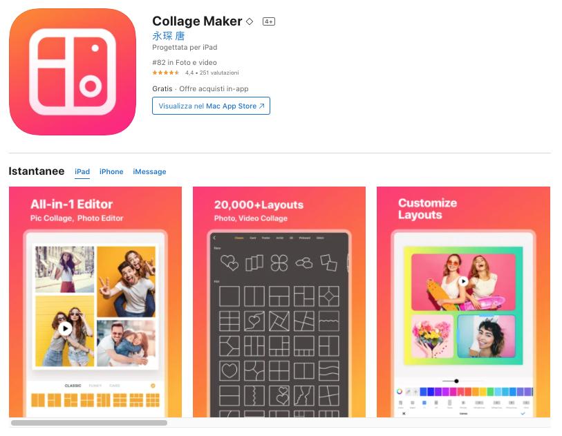 collage maker migliori app per modificare foto