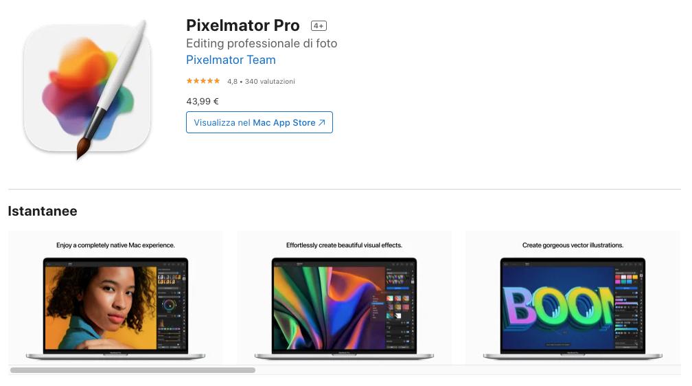 Pixelmator Pro: app editing foto