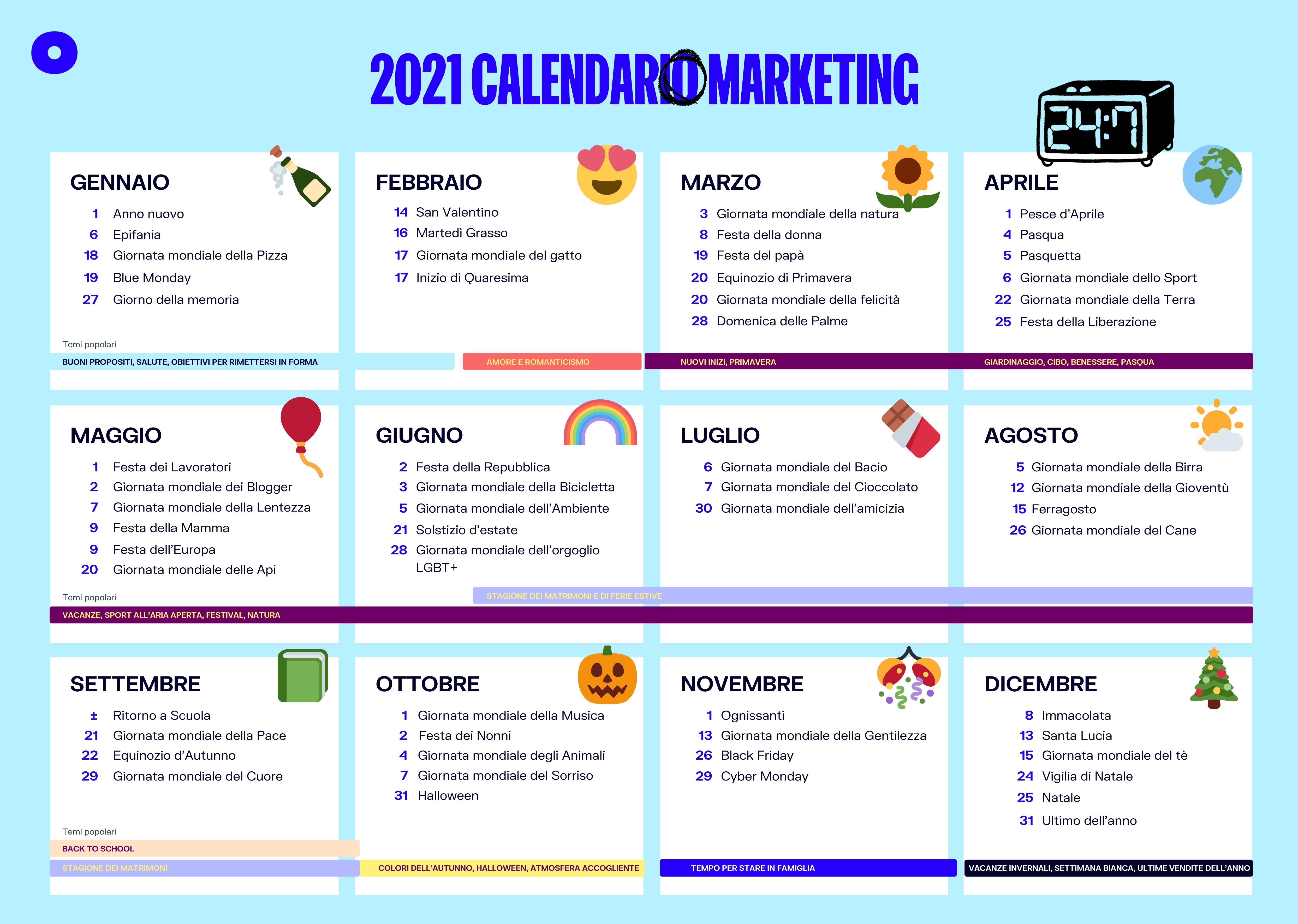 Calendario ecommerce 2021 Oberlo
