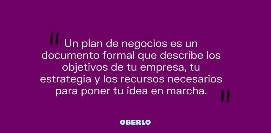 que es un plan de negocios de una empresa