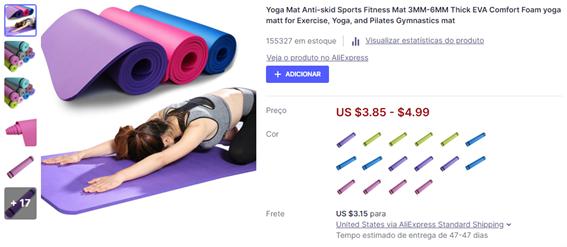 O que vender para ganhar dinheiro: esteira para yoga