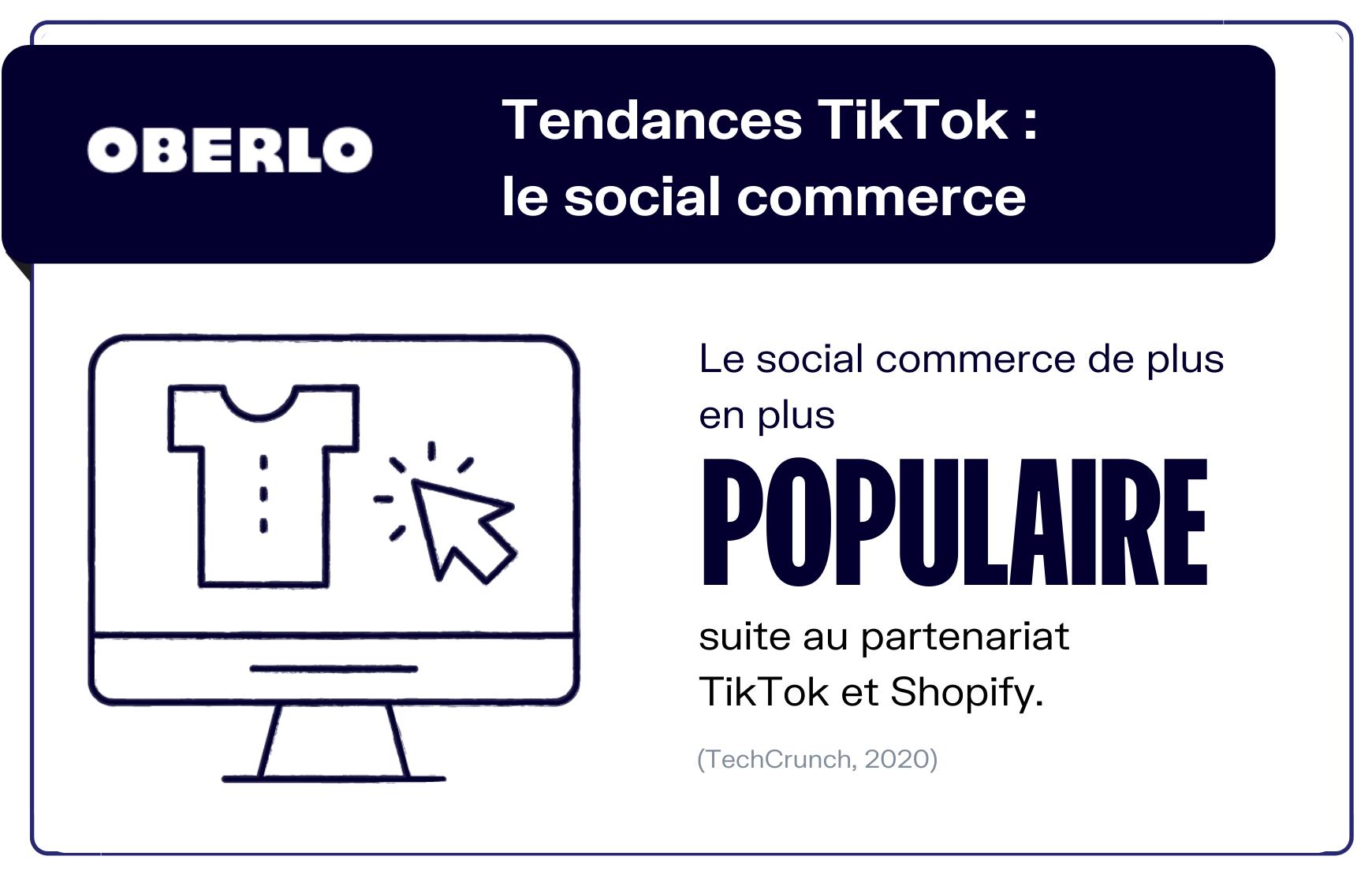 Tendance Tik Tok social commerce