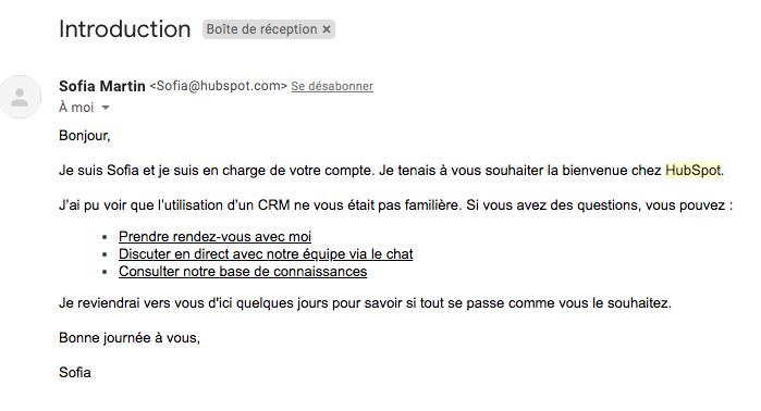 exemple accompagnement client