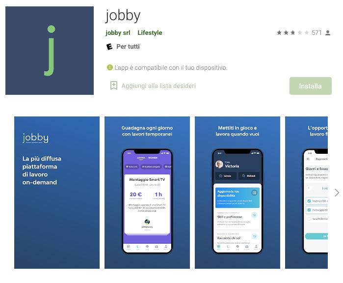 app per guadagnare: Jobby