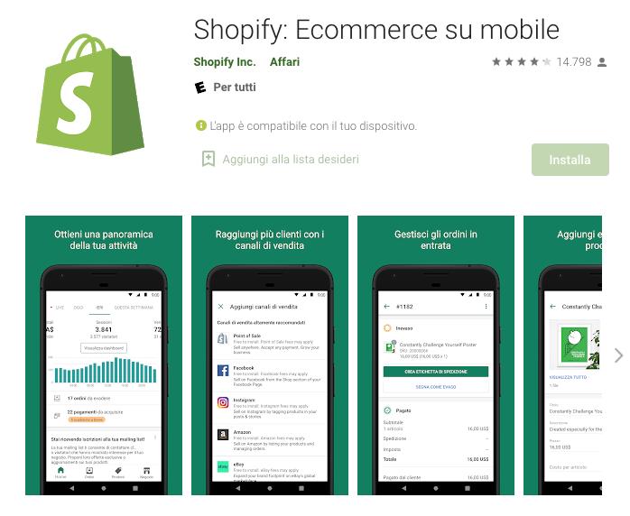 App per guadagnare: Shopify