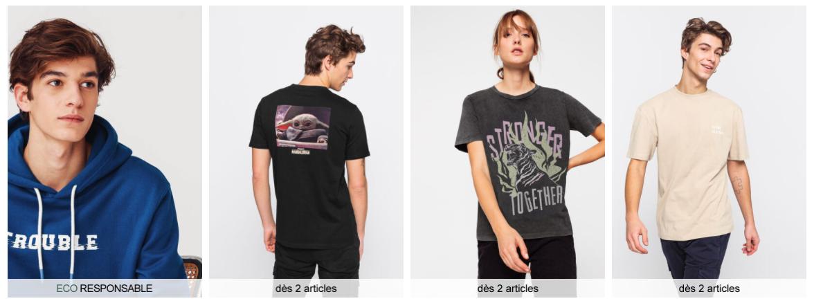 Exemple boutique t-shirts