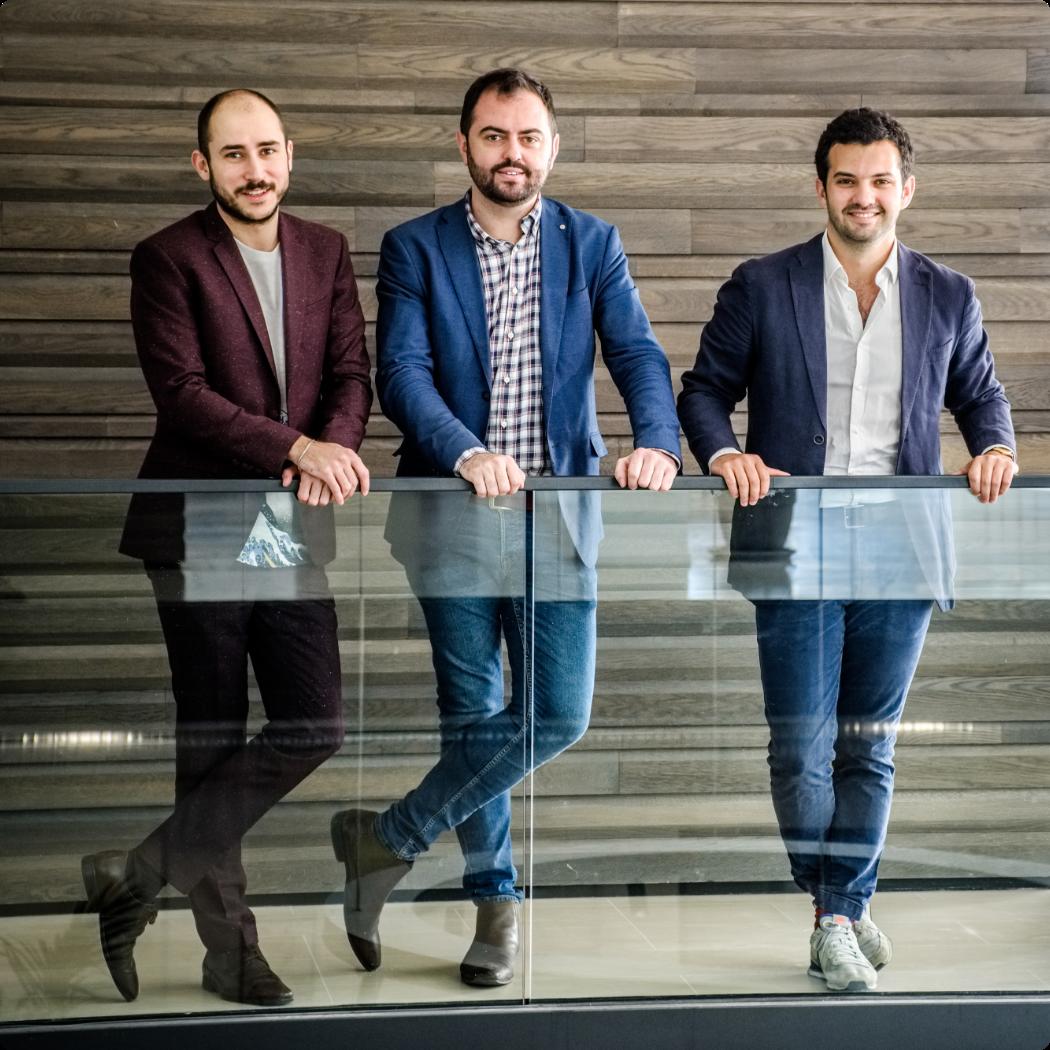 L'équipe dirigeante de Bizon : Guillaume Rigallaud, Nicolas Habert, Cédric Oberto