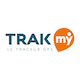 TRAKmy logo in a white circle