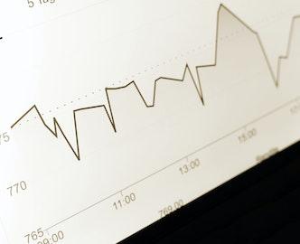 Interface de courbes illustrant une évolution