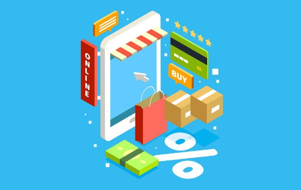 amazon e-commerce shop illustration