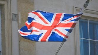 Drapeau britannique flottant