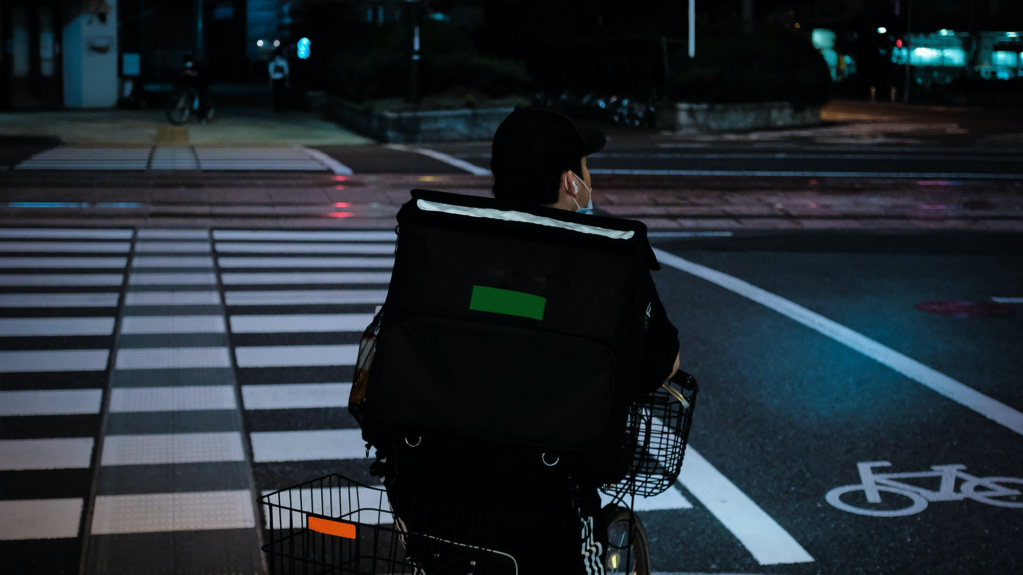 Livreur à vélo Uber
