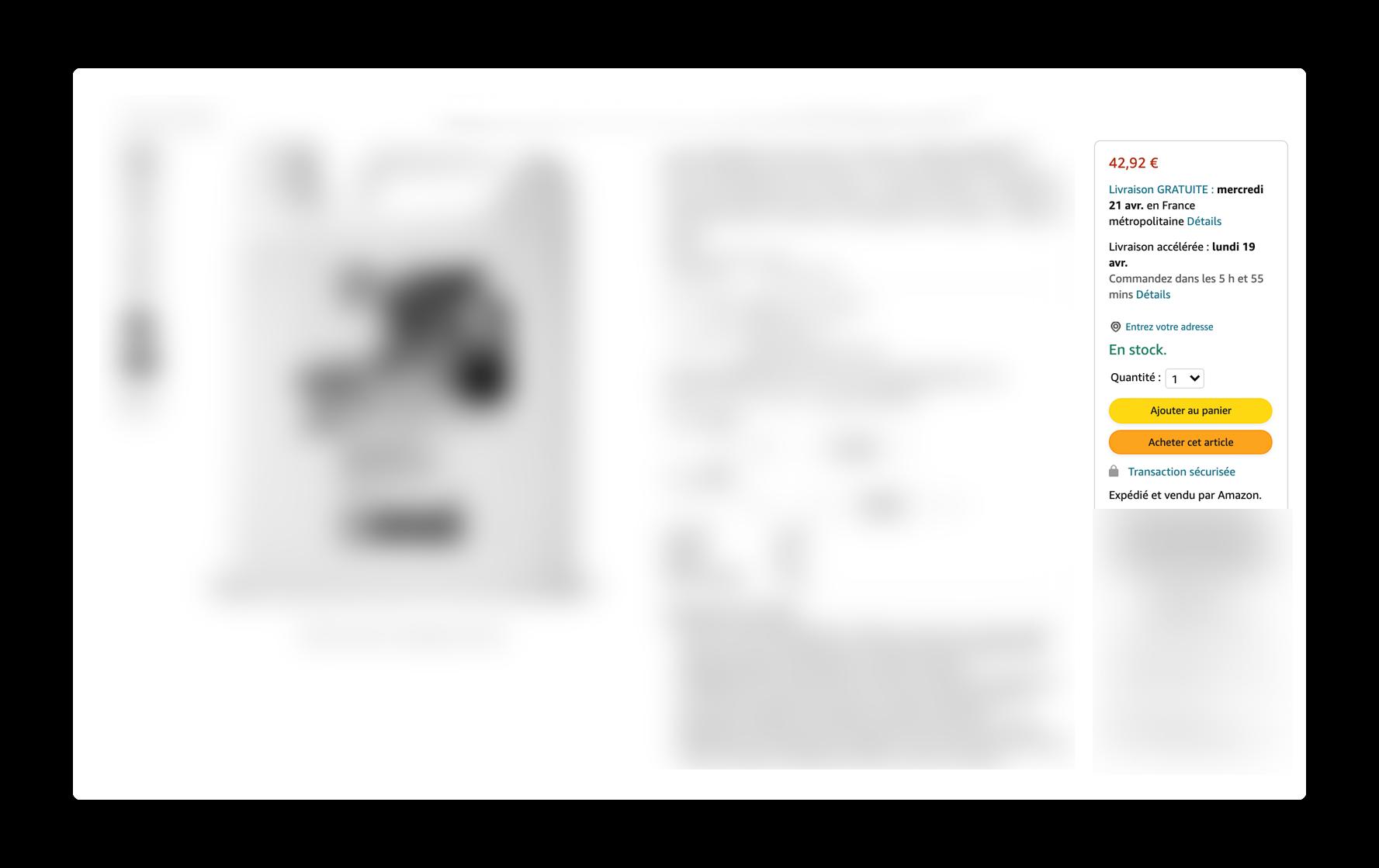 La Buy Box d'une fiche produit sur Amazon