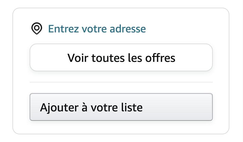 Si la Buy Box n'est pas attribuée, cette interface apparaît
