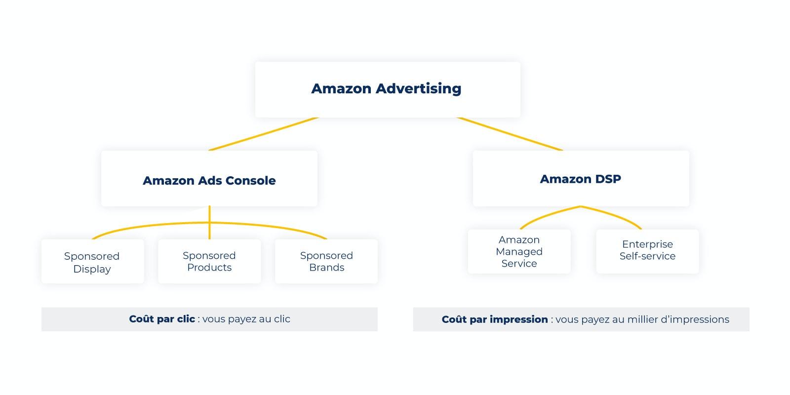 Un schéma présentant Amazon Ads et DSP