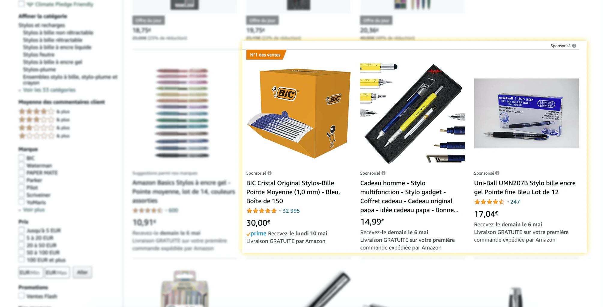 Amazon-Sponsorisé-produits