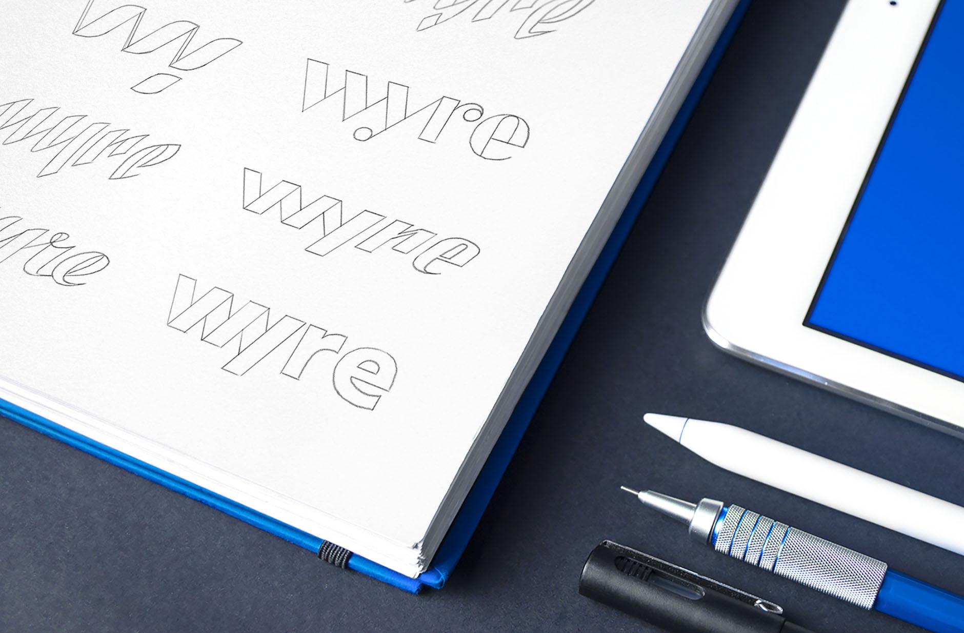 Wyre logo sketches