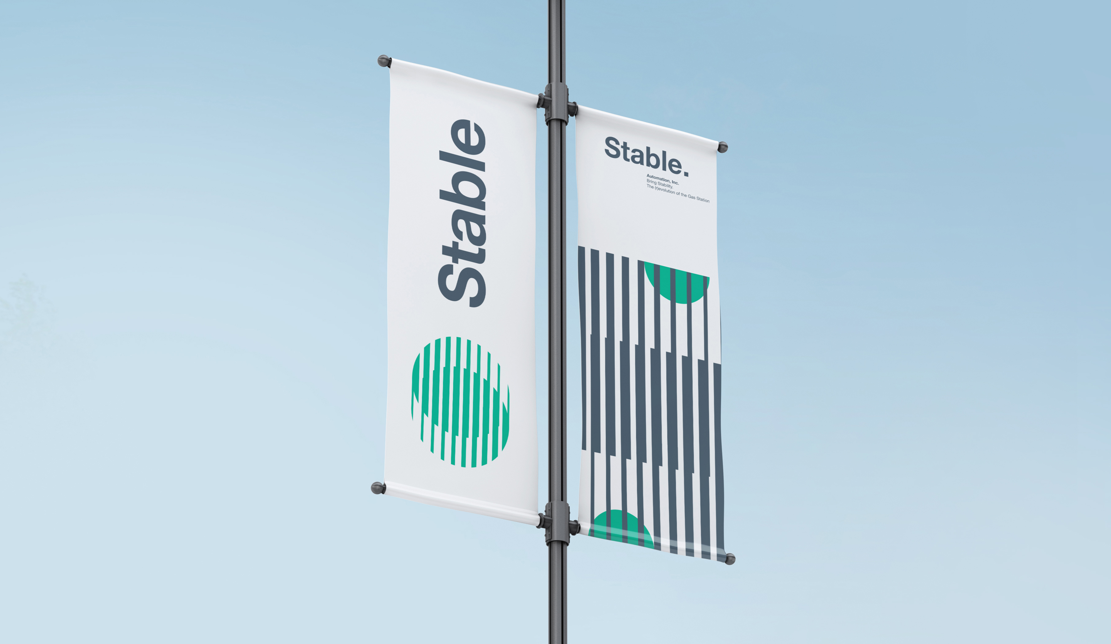 Stable vertical flag