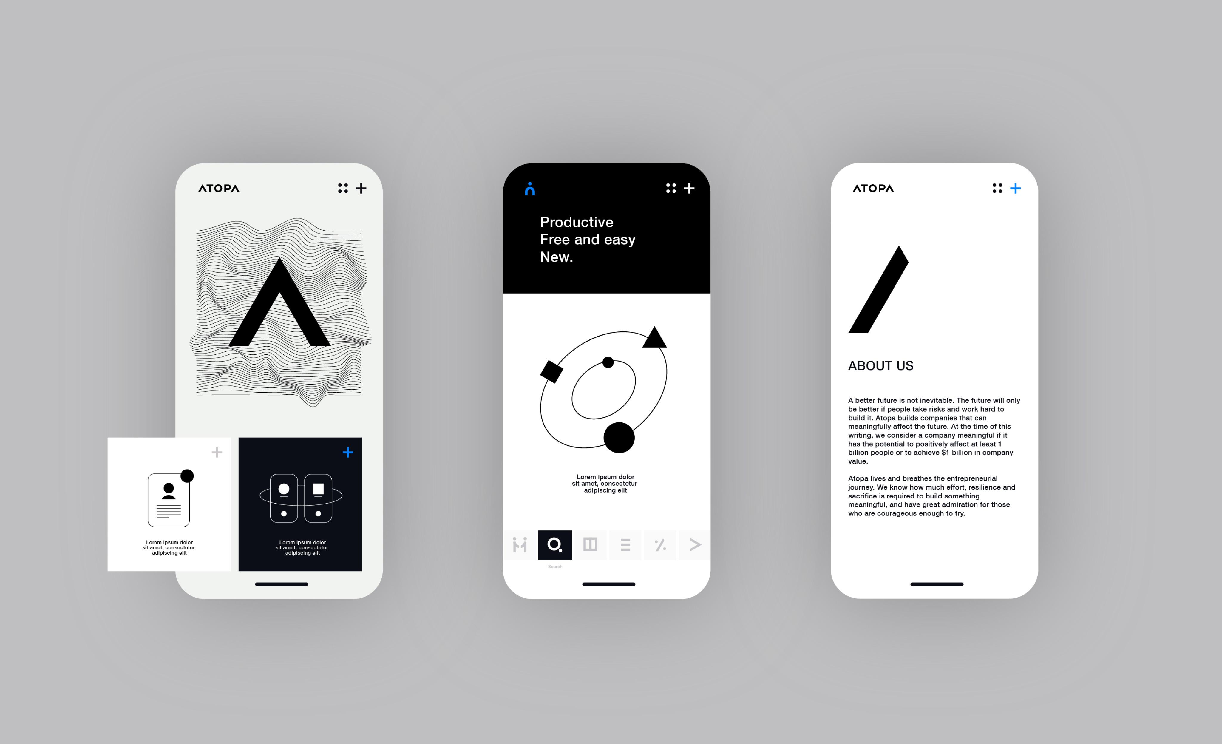 Atopa Application concept