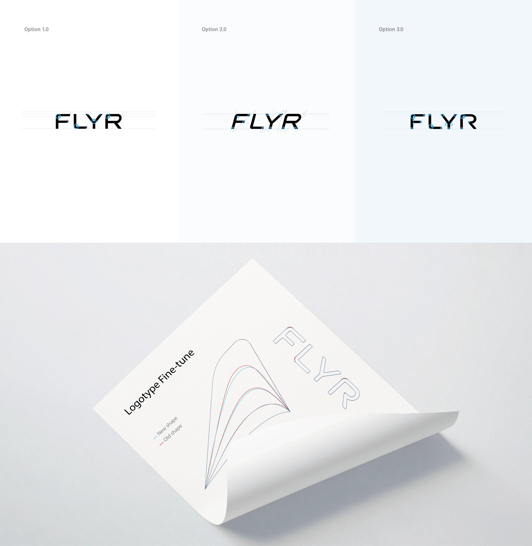 Flyr logo options