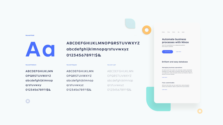 ninox typography