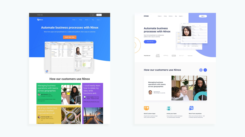 ninox website evolution