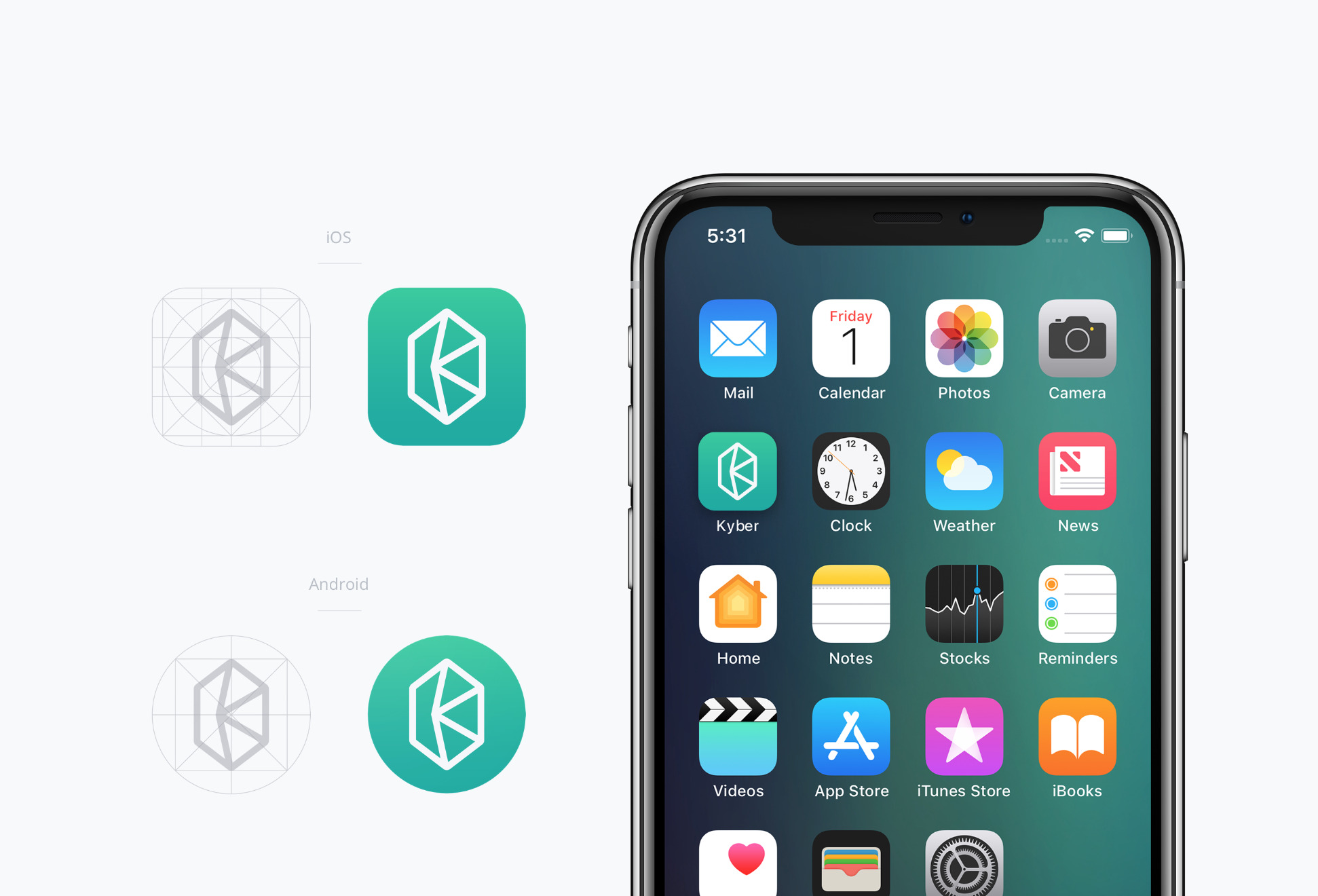 kyber network app icons