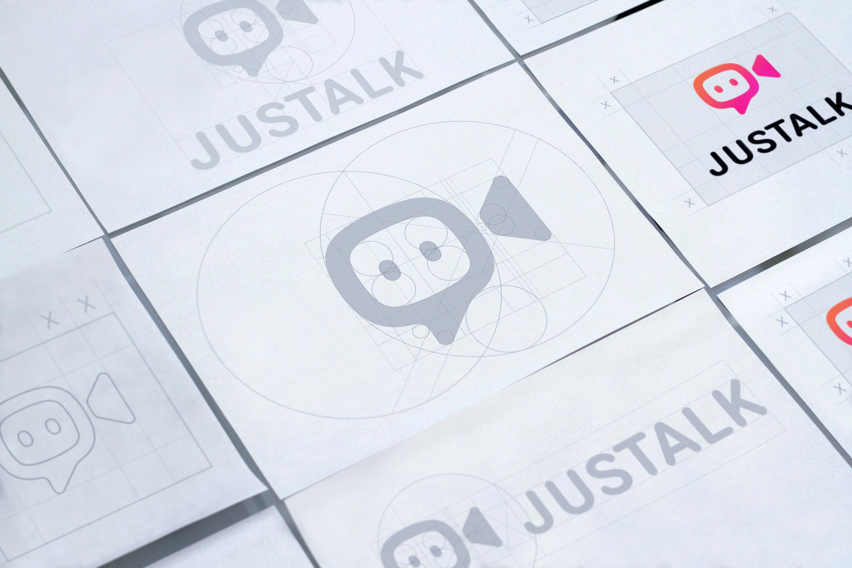 justalk logotype grid