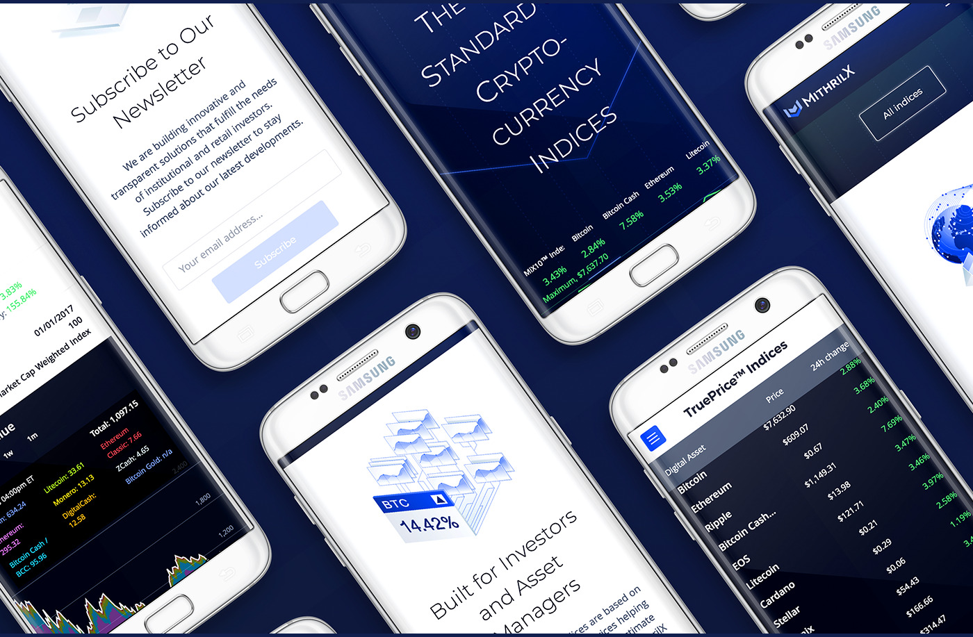 mithril x mobile website