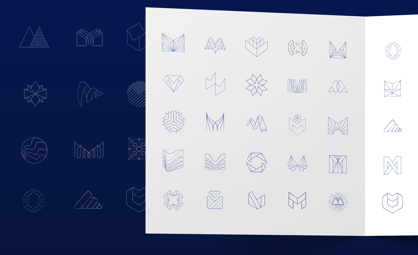 mithril x logo sketches
