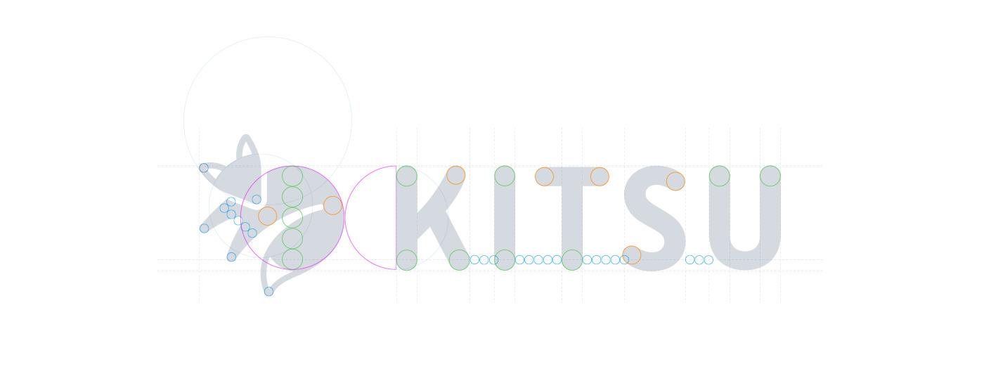 kitsu wordmark construction
