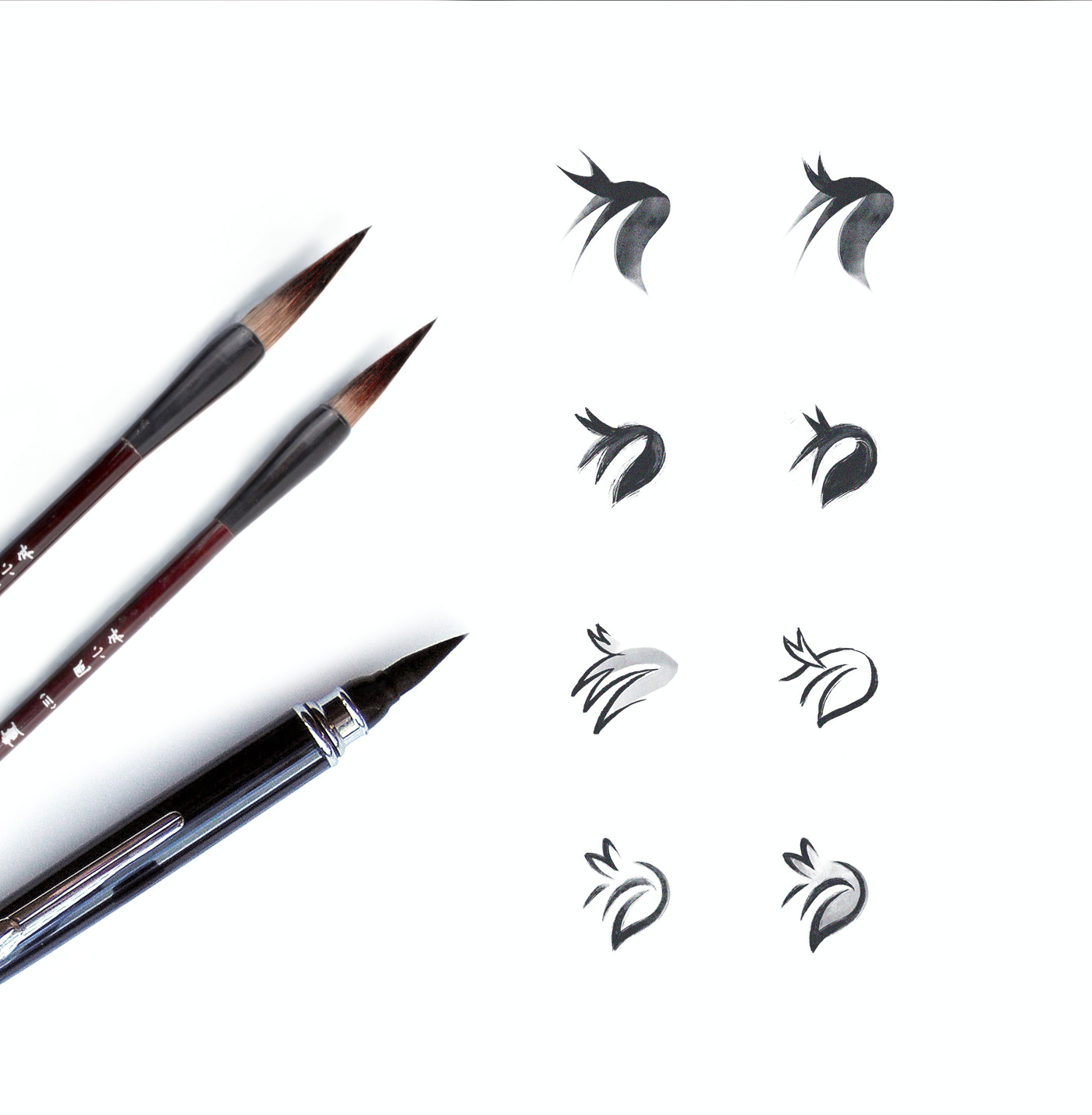 kitsu drawn sketches