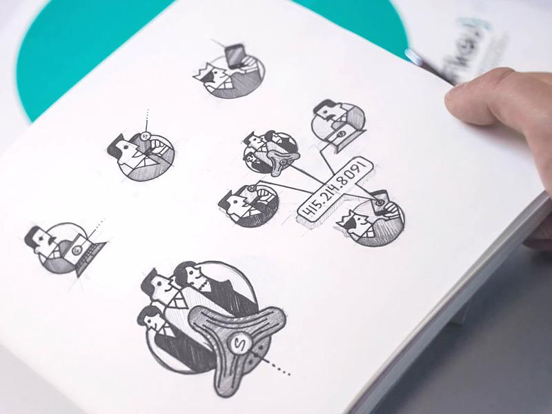 speakeasy brand illustrations