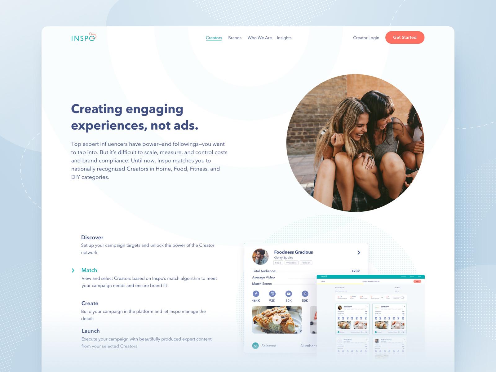 inspo marketing website