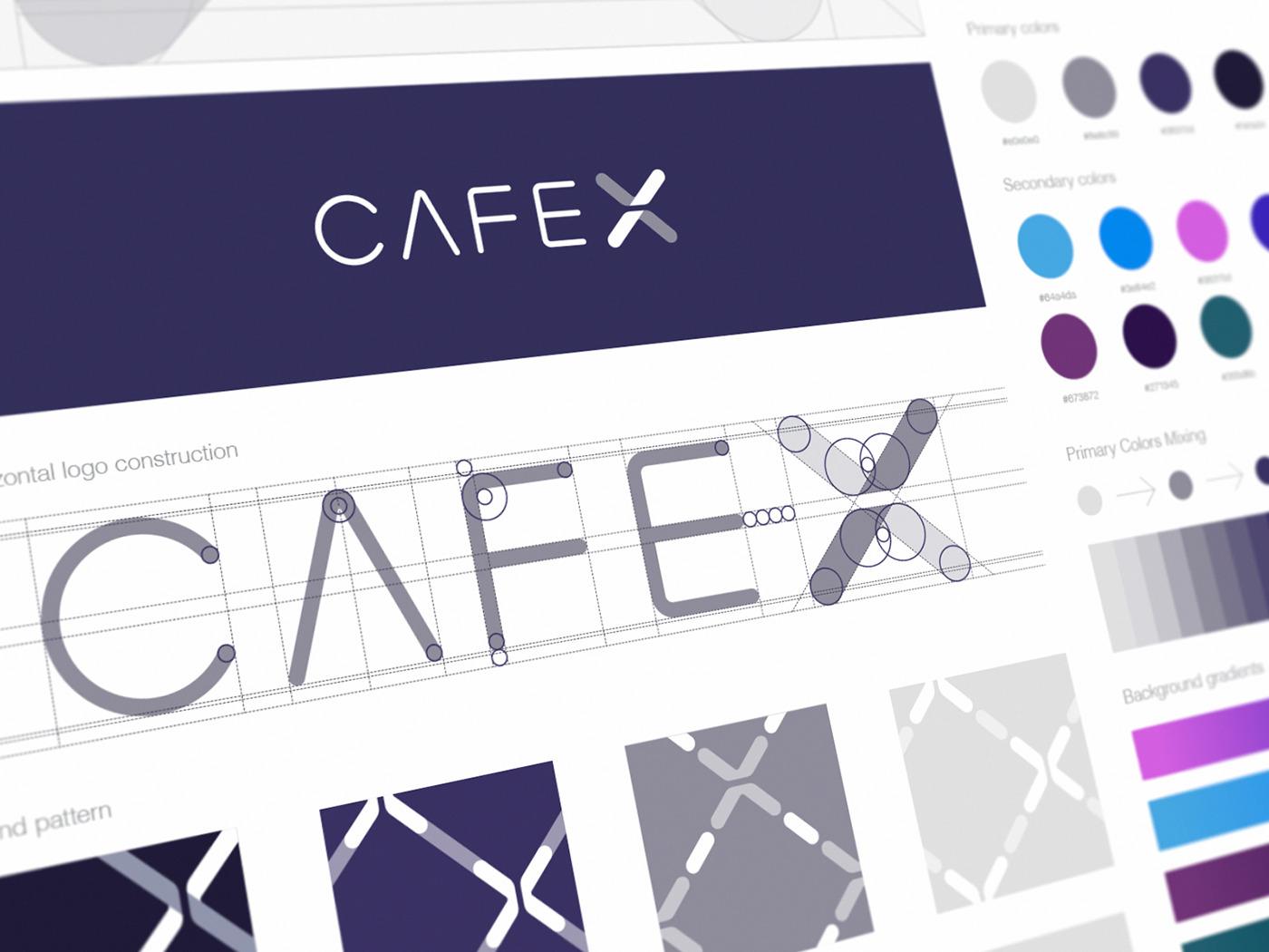 cafe x logo grid