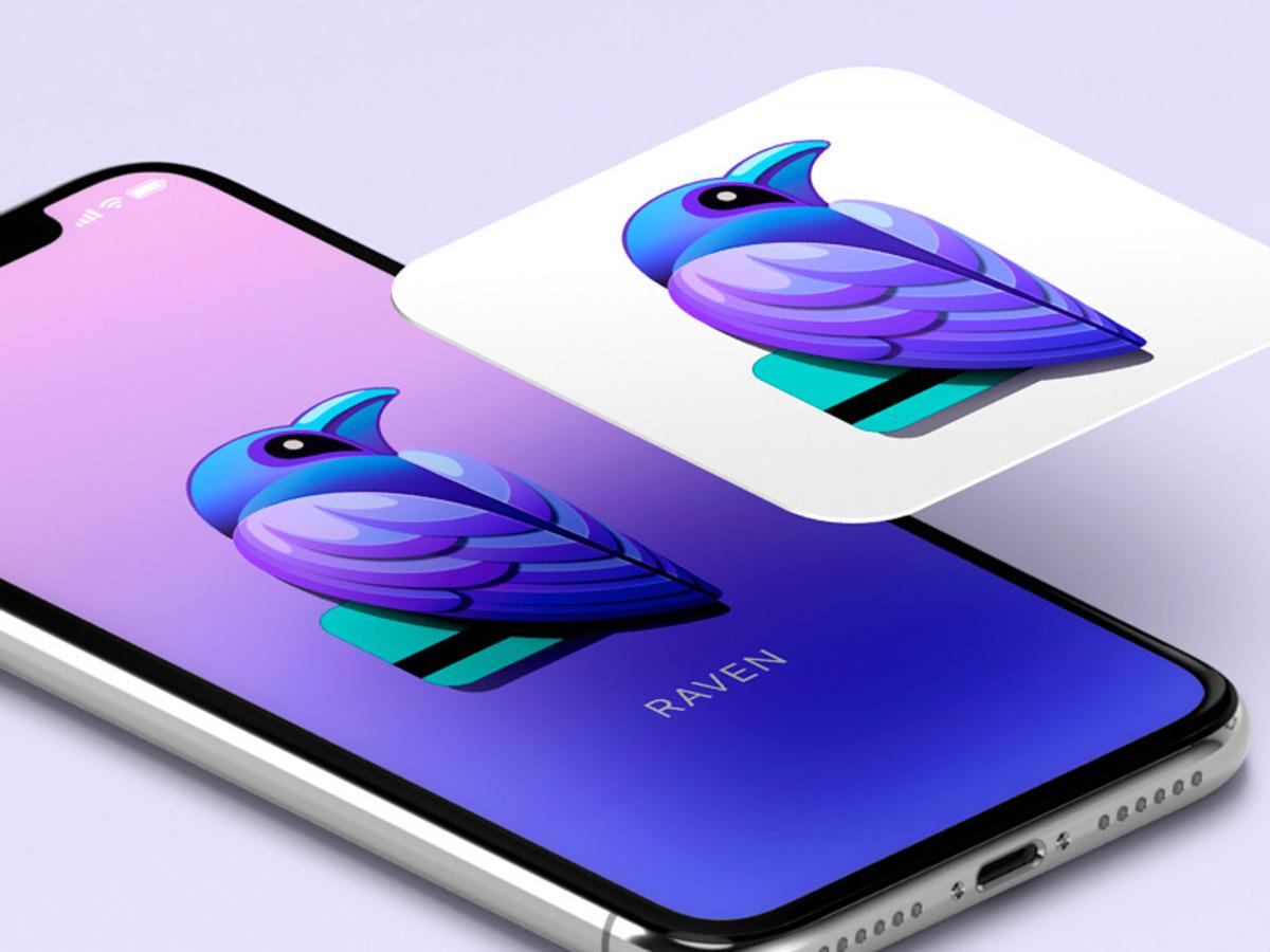 raven app icon and splash screen