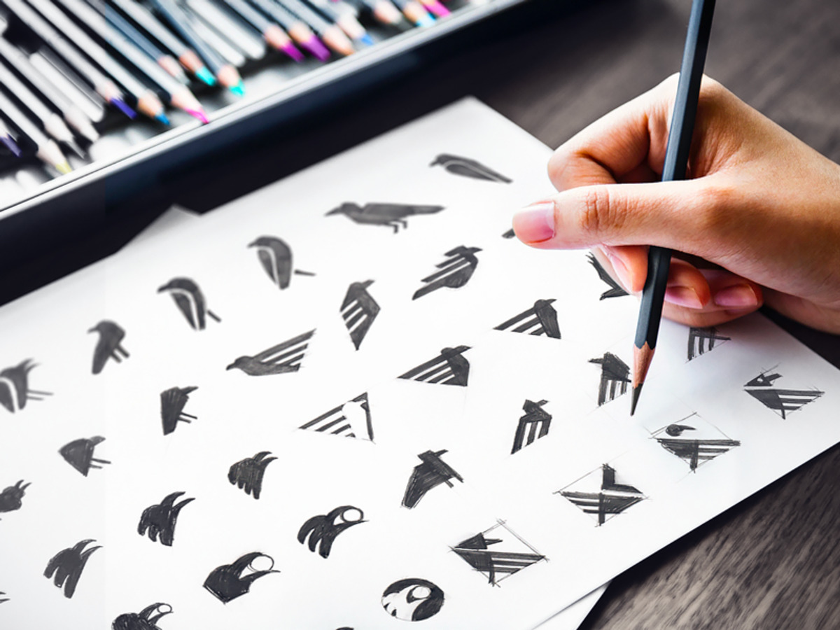 raven app icon early sketches