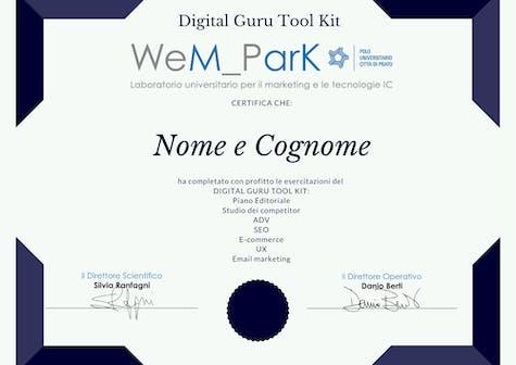 Digital Guru Tool Kit esercitazioni pratiche del Master in Digital Marketing