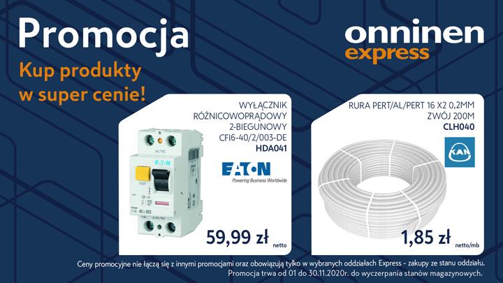 Promocja Onninen Express - super ceny w listopadzie!