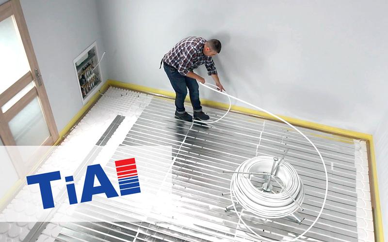 Ogrzewanie podłogowe w technologii suchej zabudowy TiA System