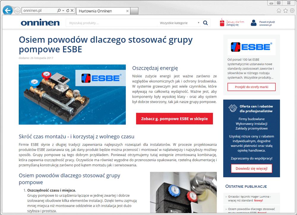 Artykuł reklamowy na onninen.pl