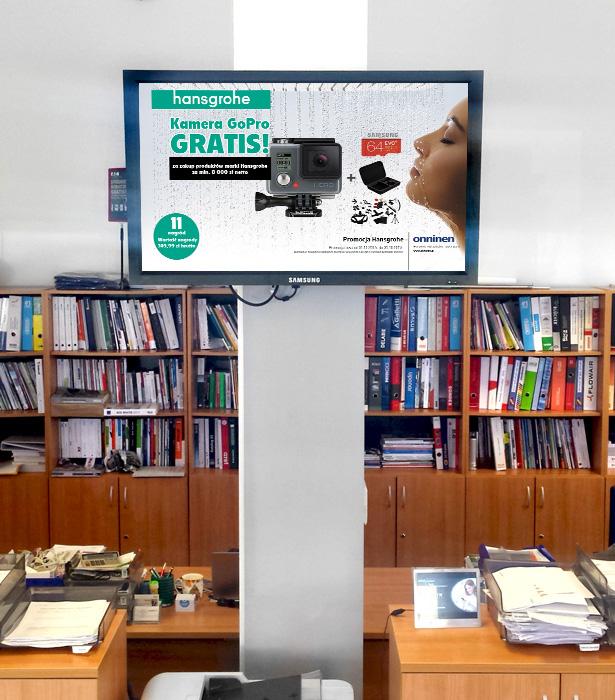 Reklamy multimedialne na ekranach w oddziałach - wizualizacja
