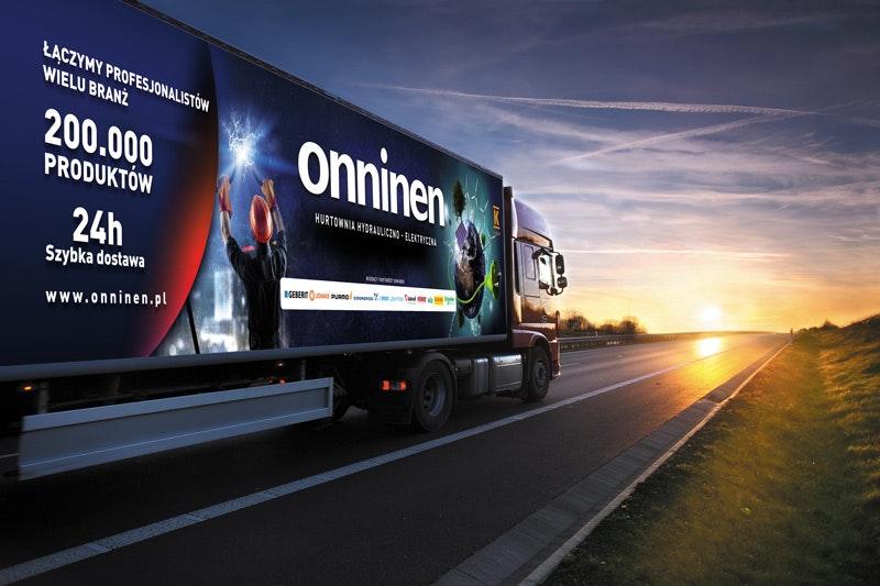 Reklamy na samochodach dostawczych Onninen