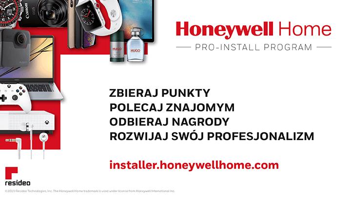 Program lojalnościowy PRO-INSTALL Honeywell Home