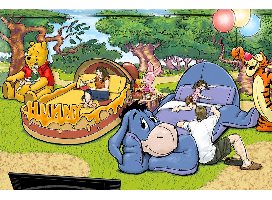 Disney Resorts - Pooh Room