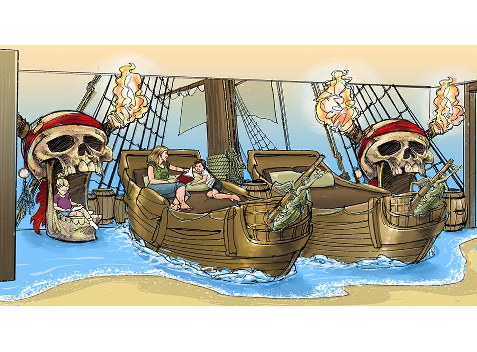 Disney Resorts - Pirates Room