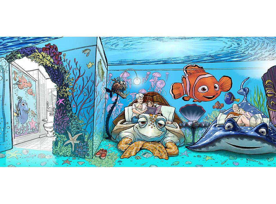 Disney Resorts - Nemo Room