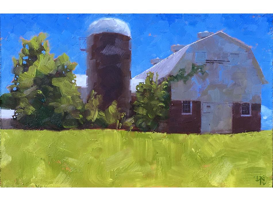 Lindley-Coble Barn, plein air